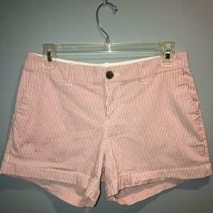 Old Navy pink striped everyday shorts